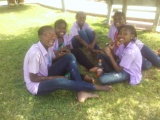 students relaxing